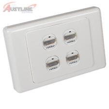 4Port Datamaster® Wall Plate HDMI V2.0 /1.4 Gold Plate Jack 3D 4K 4Gang *50%off*