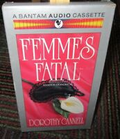 FEMMES FATAL BY DOROTHY CANNELL 2 CASSETTE AUDIOBOOK, 3 HOUR MYSTERY, GUC