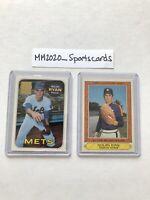 Nolan Ryan Topps Lot (2) 1999 Reprint Stamp Insert #2 & 1985 #32 Astros Rangers