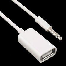 1 PC MODA 3.5mm Macho AUX Audio Plug Jack a USB cable de extensión USB 2.0 Conv