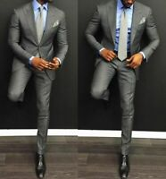 Men/'s Navy Blue Perry Ellis Suit with Pants Wedding Church Cruise Job Interview
