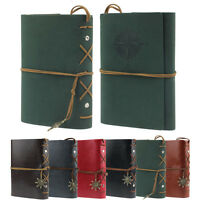 New Vintage Leather Journal Notebook Classic Retro Spiral Ring Binder Diary Book