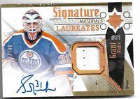 2017-18 Ultimate Collection Hockey Signature Materials Grant Fuhr 37/99 Edmonton