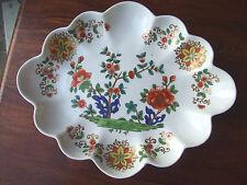 c1800 Derby Porcelain Lozenge Shaped Dessert Dish. 31cm x 25cm dia. Large Rare