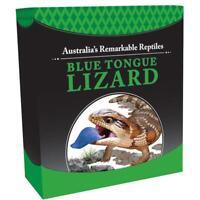 2015 Tuvalu Blue Tongue Lizard $1 One Dollar Silver Proof 1oz Coin Box Coa