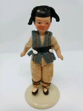 Antique Bisque Doll Hertwig Germany Dollhouse Miniature Original Clothing 3 3/4