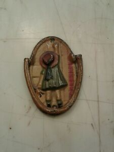 Cast Iron Door Knocker Little Girl With Black Baby Doll Spencer? Hubley?