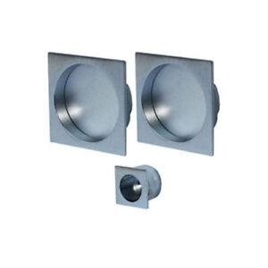 JV823 Square Recessed Flush Pull Handle Set For Pocket Doors, Mulitple Finishes