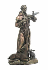St. Francis of Assisi  - Bronze Statue Sculpture Figurine - New in Box