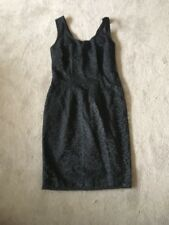 Ladies CAT-O-NA Floral Pattern Black Lace Dress Size 12