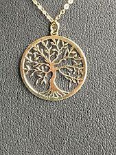 Halskette  585  Gelbgold  45 cm +  Anhänger Lebensbaum    Neu und  ungetragen !!