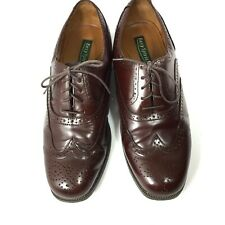 Easy Spirit Mens Size 9.5 W  Wing Tip Shoes Brown Lace Up Oxford Dress Leather