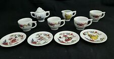 Schylling Children's Fairy Tea Set with Sugar Bowl, Creamer, 4 Cups, & 4 Saucers