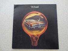 1971 Ford LTD & Galaxie 500 & Custom cars advertising booklet