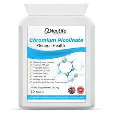 Chromium Picolinate 200ug - 60 Tablets