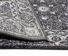 Evoke Charcoal Transitional  Floor Rug, 200cm x 200cm, Modern Collection