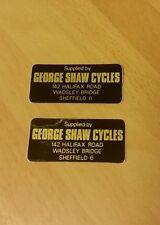 NOS George Shaw Cycles Sheffield Frame / Wheel Rim Stickers x 2