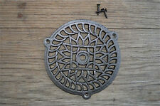 FANTASTIC ROUND CAST IRON VICTORIAN STYLE GRILL AIR VENT COVER CB5