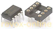 Lme49720 dual op-amplificador, op-amplifier para aplicaciones de audio, dip8 con zócalo