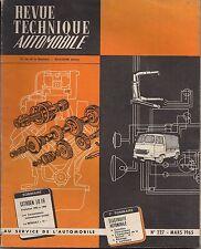 REVUE TECHNIQUE CITROEN ID 19 1963 A 1965/RENAULT 16 /ELECTRICITE AUTOMOBILE*