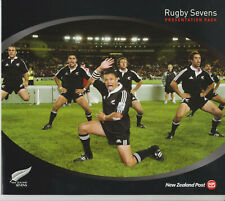 NEW ZEALAND STAMP SET FDCs 2004 PRESENTATION PACK RUGBY SEVENS
