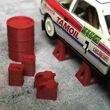 Model / Slot Car 1:43 Scale Diorama Garage Workshop Accessory Tools Equipment
