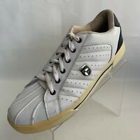 U.S. Polo Assn Vintage Mens Sneakers White Leather Lace Up Shoes Size 13