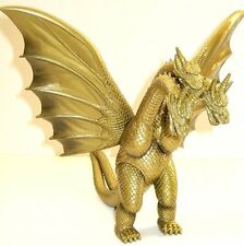 KING GHIDORAH,NEW,TOHO KAIJU SERIES,1998 BANDAI,G-03 TAG, 13'' WINGSPAN.