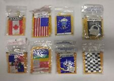Lot of 16 Assorted Mini Banner Hanging Flags (Countries, Military etc)