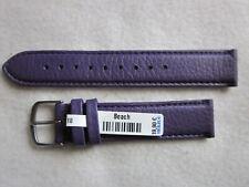 Herzog Uhrenarmband 403018 Leder Beach 18 mm aubergine