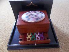 Reutter Porcelain Dolls House 1:12th Scale Sewing Casket 14808