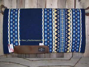 """Pad - Mesquite Wool Top, Felt with Fleece Lining (1"""" x 33 x 38) - Navy"""