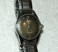 Working 1950's Art Deco ELGIN Stainless Shockmaster Automatic Men's Wrist Watch
