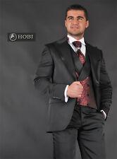 *224* 7-teiliger!! Designer Herrenanzug - Hochzeitsanzug - Anzug Gr.46 - Schwarz