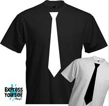 Black and White Tie - Quality T-shirt