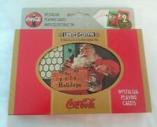 New Limited Edition Coca-Cola Nostalgia 2 Decks Playing Cards Collectible Tin