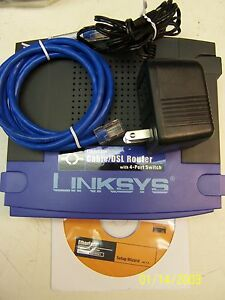 Linksys EtherFast BEFSR41-RM 100 Mbps 4-Port 10/100 Wired Router + 2 LNE100TX