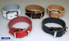 20 natur Lederriemen 18,0 x 1,4 Lederbänder mit Schnalle Blankleder-Riemen