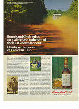 1978 Canadian Club Whisky Bonnie and Clyde Hidden Case Contest Print Ad