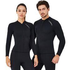 Men Women Long Sleeved Diving Tops 2mm Zipper Wetsuits Jacket Coat