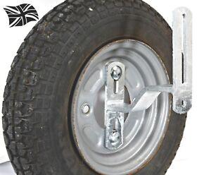SWB150 Trailer Spare Wheel Bracket Heavy Duty Galvanised Dog Leg Pattern