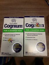 2 PACK Natrol Cognium for a Sharper Mind 60 Tablets EXP 8/2020++