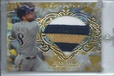 Ryan Braun 2015 Topps Tribute Diamond Cuts Relic 3 Color Swatch 17/25