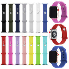 CLASSIC SILICONE SPORTS BAND WRIST STRAPS REPLACE FOR APPLE WATCH SERIES 3 2 1
