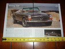 1970 MERCEDES BENZ 280 SL PAGODA - ORIGINAL 2011 ARTICLE