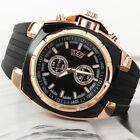 Stylish Business Men Silicone Strap Quartz Analog Fashion Wrist Watch Ideal