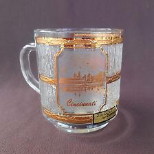 CINCINNATI OHIO Souvenir Coffee Cup Mug 22K GOLD by CULVER Made in USA