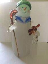 Glass Snowman Golfer - Midwest of Cannon Falls