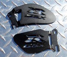 Suzuki GSXR Logo Heel Guards / Ankle Plates GSX-R 600 750 1000 - Black
