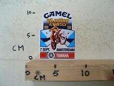 STICKER,DECAL AMSTERDAM STADION MOTOCROSS CAMEL 7 SEPT. YAMAHA MX CROSS